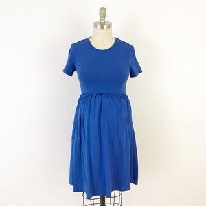 ASOS Maternity Blue Shirt Short Sleeve Mini Dress